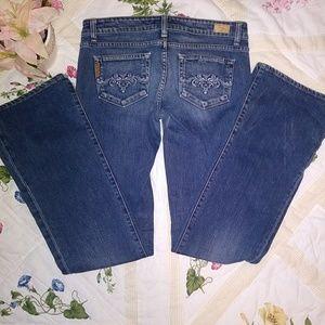 Paige dark wash straight leg jeans